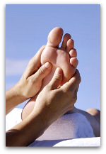 foot massage relieves stress and builds up immune system