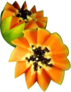 Picture of papaya, one of the fruits with health benefits of vitamin c